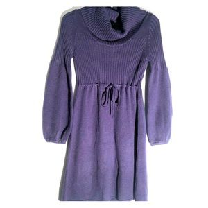 New Directions Cowl Neck Sweater Dress V